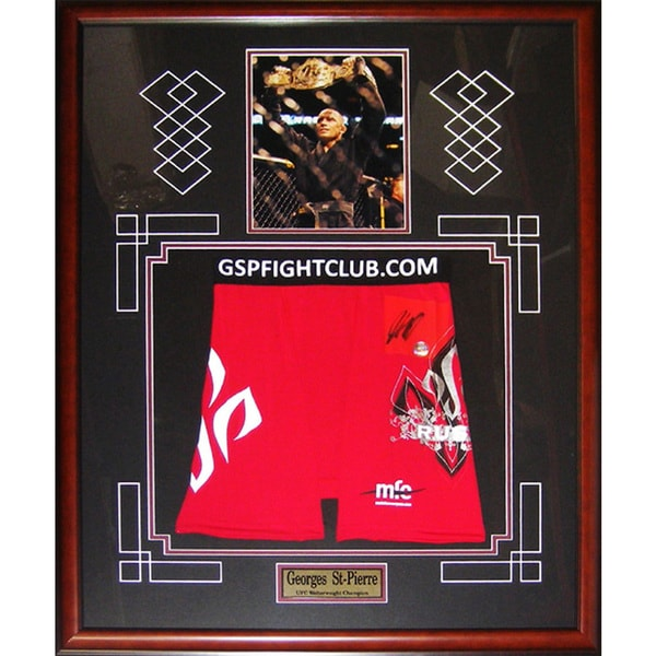 Autographed Georges St-Pierre Red Trunks