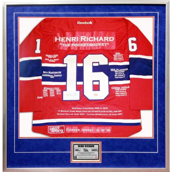 Henri Richard Framed Career Jersey