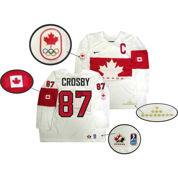 Team Canada 2014 Autographed Sidney Crosby White Jersey