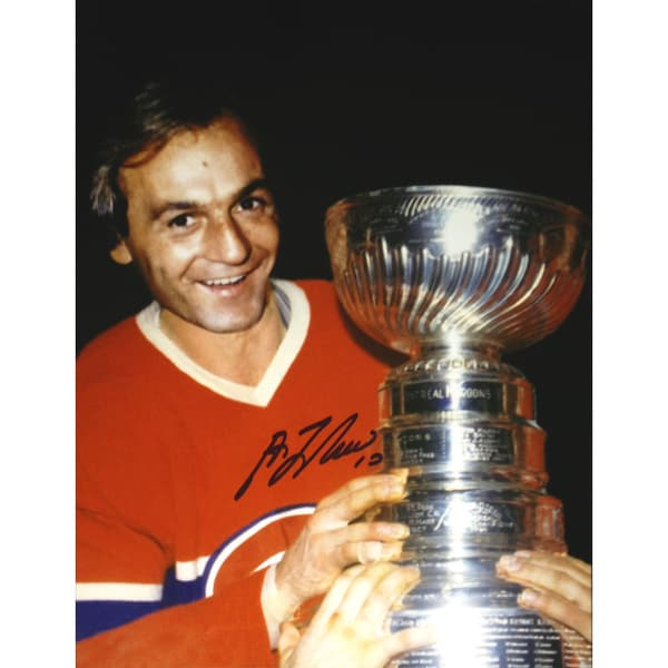 Guy Lafleur Signed 8X10 Stanley Cup - Montreal Canadiens 15805428