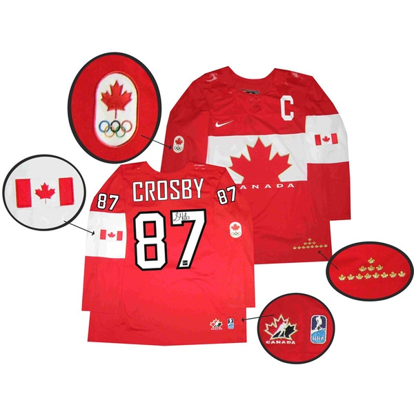Team Canada 2014 Autographed Sidney Crosby Red Jersey