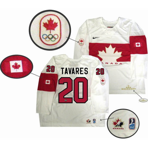 Team Canada 2014 Autographed John Tavares White Jersey