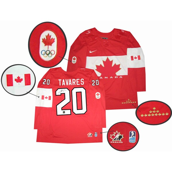 Team Canada 2014 Autographed John Tavares Red Jersey