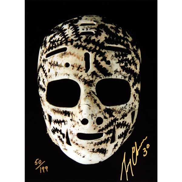 Gerry Cheevers The Mask Signed 10x15 - Ltd Ed of 199 - Boston Bruins