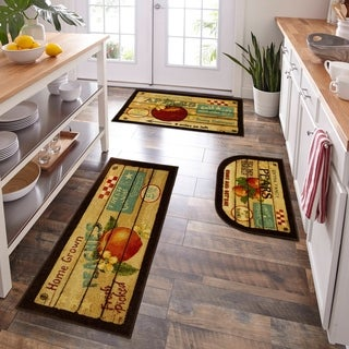 Mohawk Home New Wave Fruit Crate 3-Piece Kitchen Rug Set