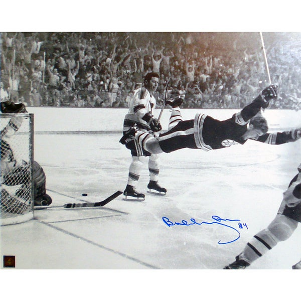 Bobby Orr 'The Goal' Autographed 11x14 Photograph - Boston Bruins 15805600