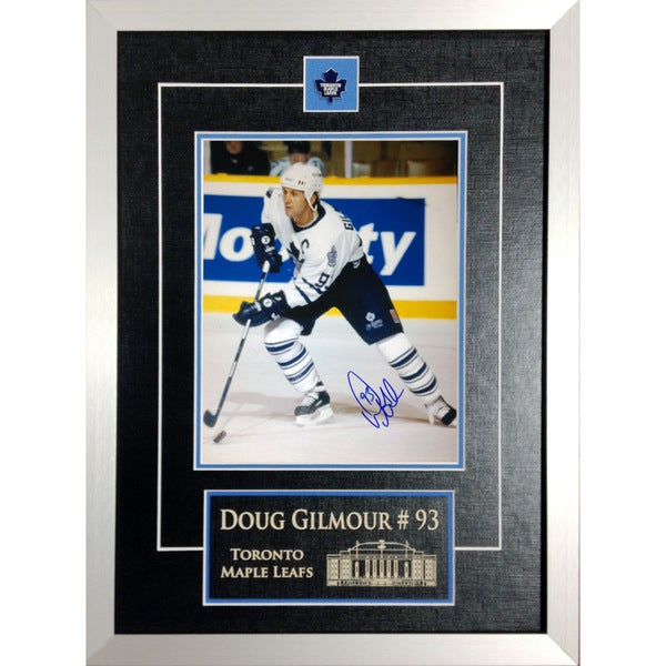 Autographed Doug Gilmour 8x10 - Museum Framed (white)