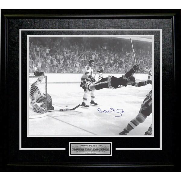 Bobby Orr 'The Goal' Signed 11x14 Framed Photo - Boston Bruins 15805677