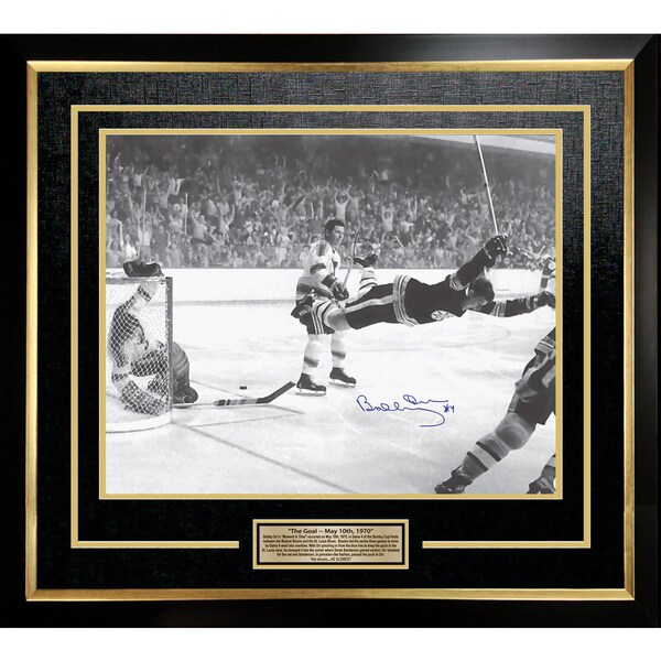 Bobby Orr 'The Goal' Signed 16x20 Framed Photo - Boston Bruins 15805680