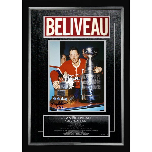 Jean Beliveau Career Collectible - Museum Framed - Ltd Ed of 144