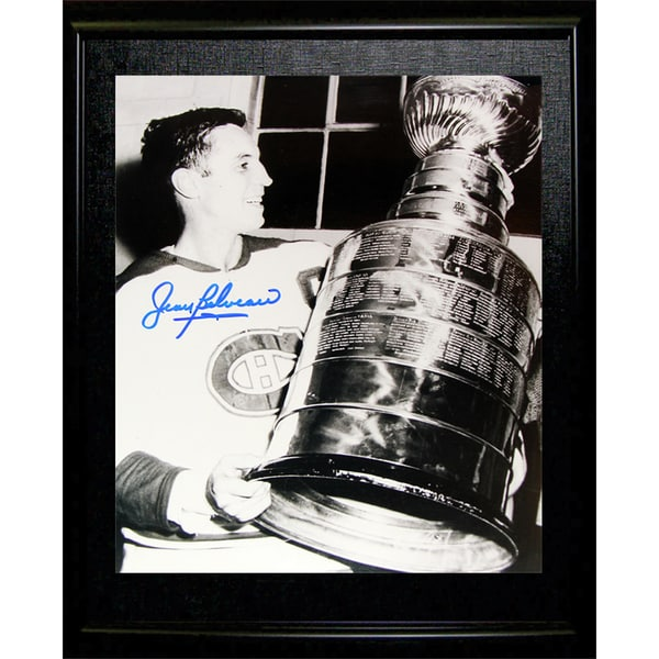 Jean Beliveau Framed Autographed Picture - Montreal Canadiens (Stanley Cup) 15805687