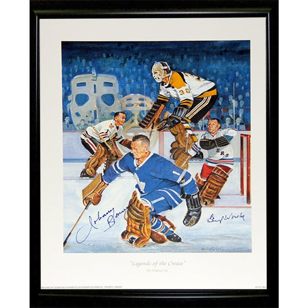 Legends of the Crease Autographed Lithograph - Framed