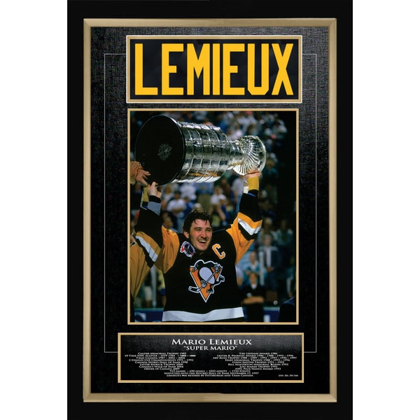 Mario Lemieux Career Collectible - Museum Framed - Ltd Ed of 166