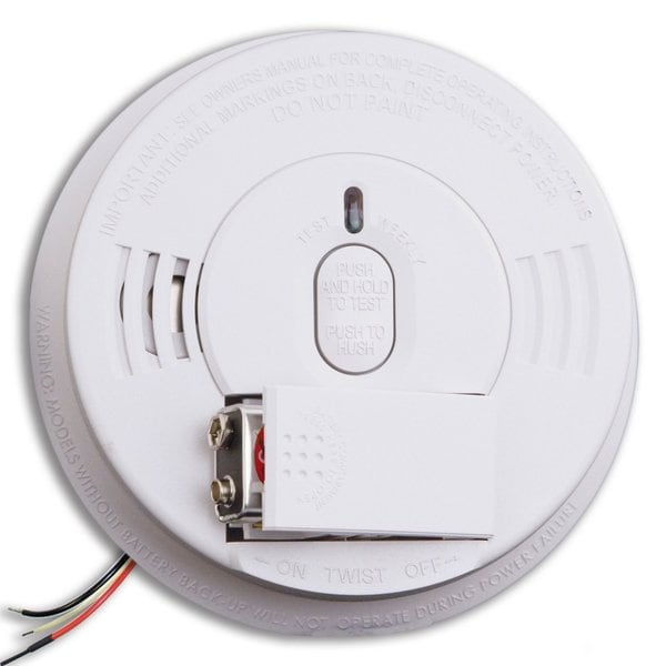 Kidde i12060 120V AC/DC Wire-in Smoke Alarm with Battery Backup