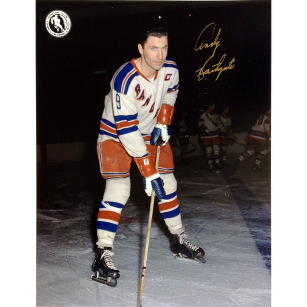 Andy Bathgate Autographed 8X10 Photograph - New York Rangers