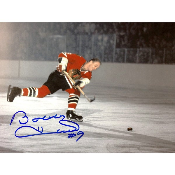 Bobby Hull 51st Goal 8X10 Autographed Photograph - Chicago Blackhawks