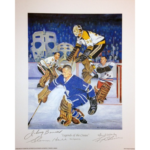 Legends Of The Crease Lithograph - 4 Autographs