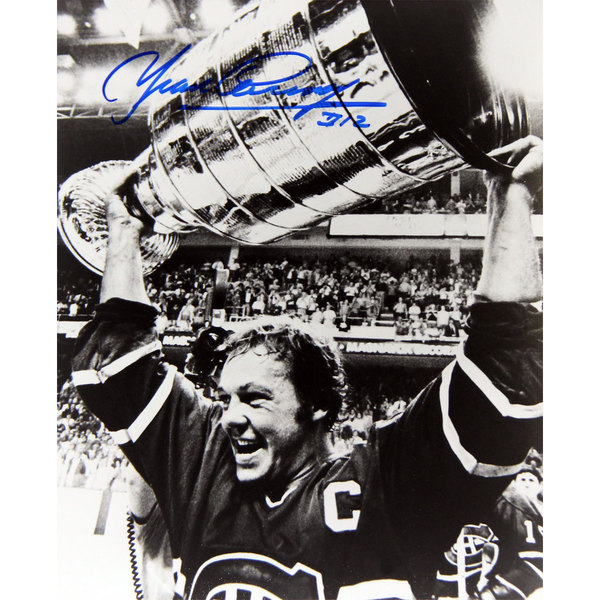 Yvan Cournoyer Autographed 8X10 Photograph - Montreal Canadiens (Stanley Cup) 15805847