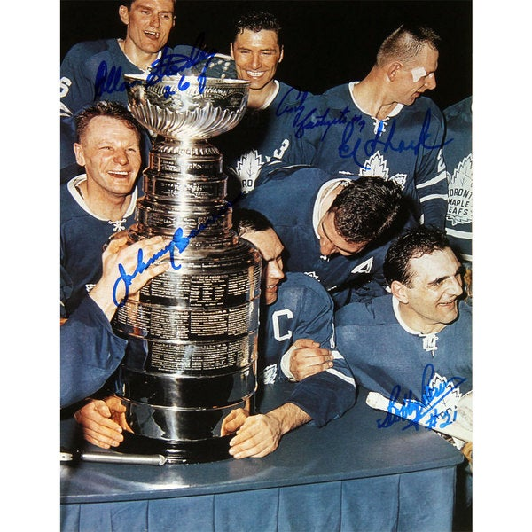 TML Cup Celebration - Stanley, Bathgate, Bower, Baun and Shack - Maple Leafs 15805889