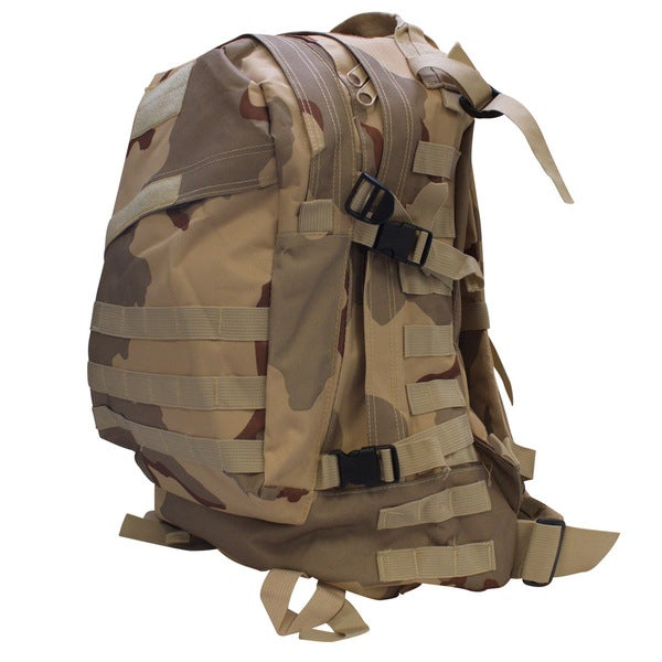 Tactical Military Outdoor Backpack Daypack Desert Camo