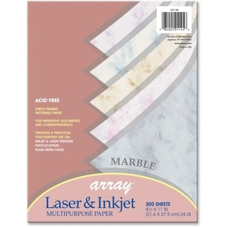 Array 24lb. Assorted Marble Colors Bond Paper - 1 Ream