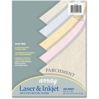 Array 24lb. Assorted Parchment Colors Bond Paper - 1 Ream