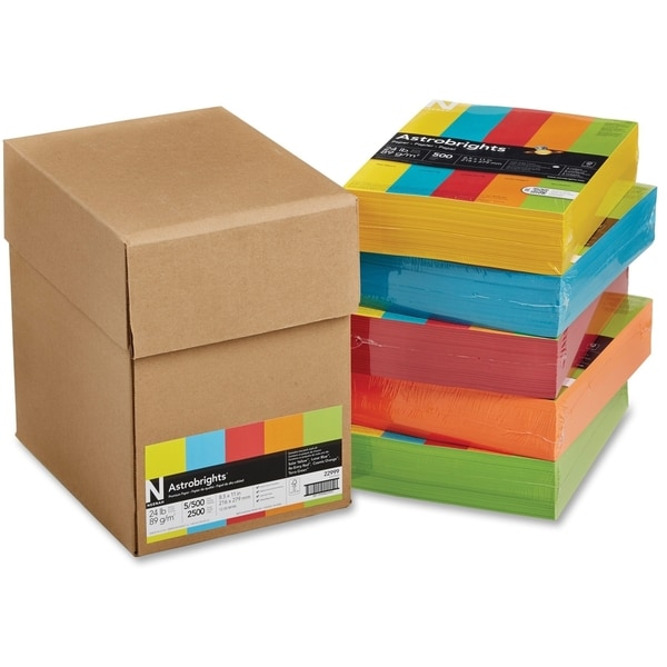 Astrobrights 24lb. Assorted Colors Paper - 5 Reams