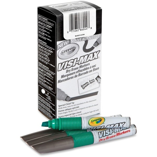 Crayola Green Visi-Max Dry Erase Markers - 1 Box 15806141