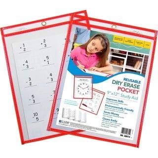"C-line Reusable 8.5"" x 11"" Dry Erase Pockets - 30 Pockets"