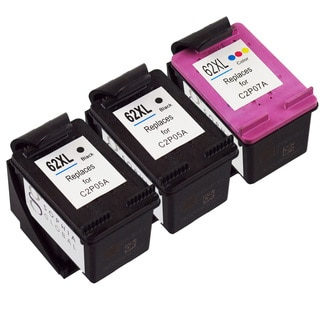 Sophia Global Remanufactured Ink Cartridge Replacement for HP 62XL (2 Black, 1 Color)