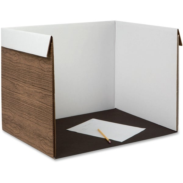 Pacon Wood Grain Study Carrel - 1/EA