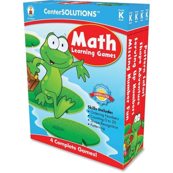 CenterSOLUTIONS 140050 Math Learning Games - 1/EA