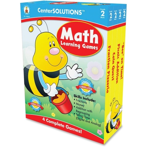CenterSOLUTIONS Grade 2 Math Learning Games - 1/EA