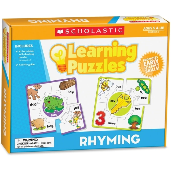 Scholastic Learning Puzzles Puzzle - 1/EA