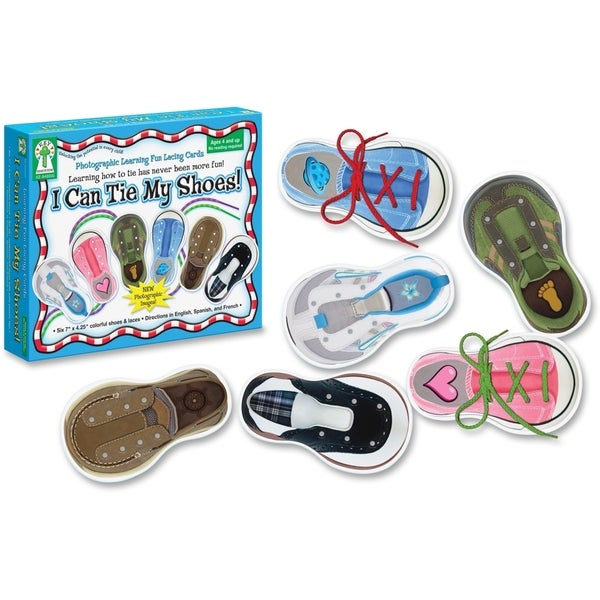 Carson-Dellosa I Can Tie My Shoes Lacing Cards - 1/EA