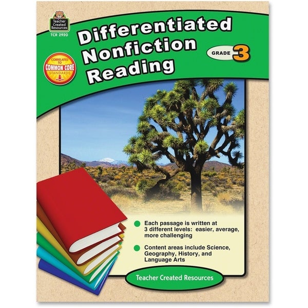 Teacher Created Resources Differentiated Nonfiction Read Book Education Printed Book - 1/EA
