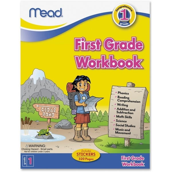 Mead First Grade Comprehensive Workbook Education Printed Book for Science/Mathematics/Social Studies - 1/EA 15806337