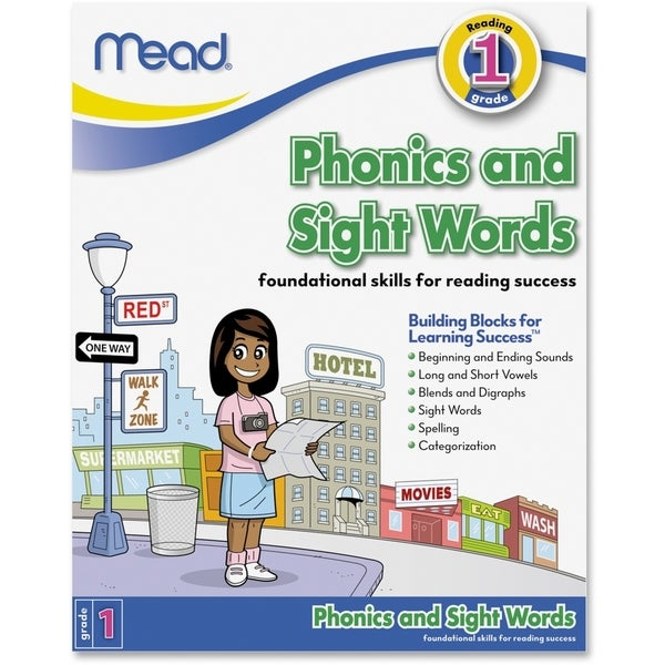 Mead Phonics and Sight Words Workbook Grade 1 Education Printed Book - 1/EA 15806339