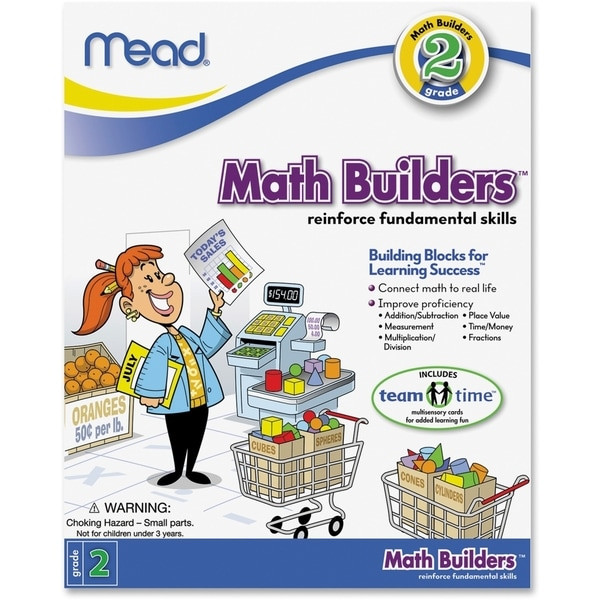 Mead Second Grade Math Builders Workbook Education Printed Book for Mathematics - 1/EA