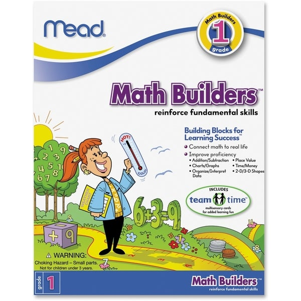Mead First Grade Math Builders Workbook Education Printed Book for Mathematics - 1/EA 15806351