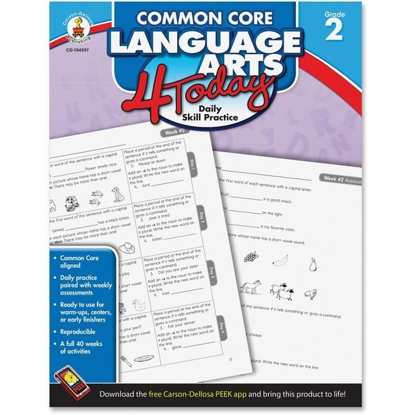 Carson-Dellosa Common Core Language Arts 4 Today Workbook Education Printed Book - English - 1/EA