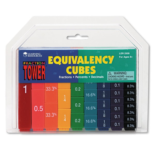 Learning Resources Fraction Tower Equivalency Cube - 51 Pieces