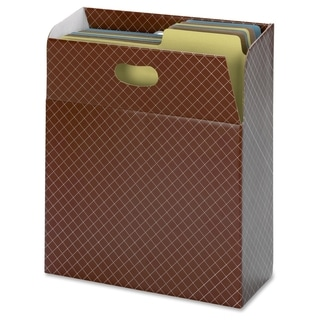 Smead 92000 Brown Organized Up MO Vertical File Case - 1/EA