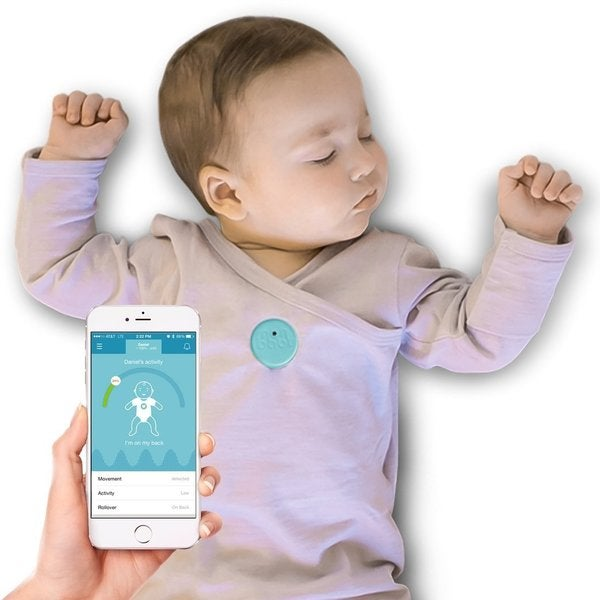 MonBaby Blue Smart Button Baby Monitor