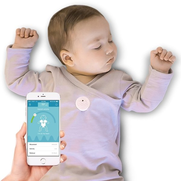 MonBaby White Smart Button Baby Monitor