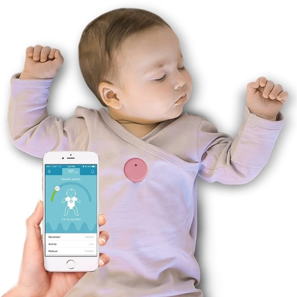 MonBaby Pink Smart Button Baby Monitor
