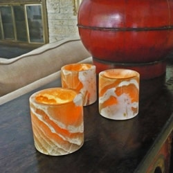 Set of 3 Alabaster Cylinders (Egypt)