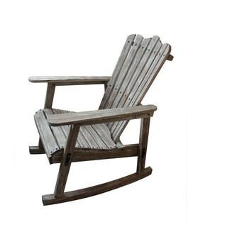 Teton Home Weathered Grey Finish Adirondack Rocking Chair