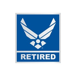 US Air Force Logo Retired Car Decal