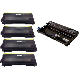 5-pack Replacing Brother 4 by TN350 Toner Cartridge Plus 1 by DR350 Drum Unit